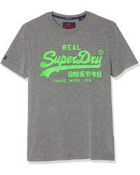Superdry Vintage Logo Neon Lite Tee Pull sans che - Gris