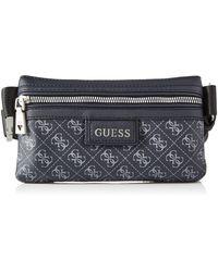 Guess DAN Logo Flat Bum Bags Briefcase - Schwarz