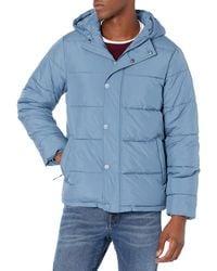 Amazon Essentials Heavyweight Long-Sleeve Hooded Puffer Coat Chaleco Polar - Azul