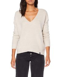 Superdry - Isabella Slouch Vee Knit Pull - Lyst