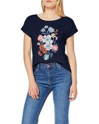 Esprit 069ee1k038 Camiseta - Azul