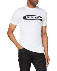 G-Star RAW - Graphic Logo 4 Camiseta - Lyst