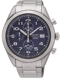 Seiko Orologio Cronografo Quarzo Uomo con Cinturino in Acciaio Inox SSB267P1 - Metallizzato