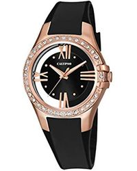 Calypso St. Barth Quartz Watch With Black Dial Analogue Display And Black Plastic Strap K5680/4