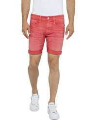 Replay Anbass Short - Red