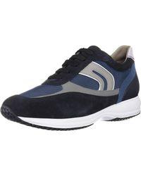 Geox U Happy Art.P Sneaker - Blau