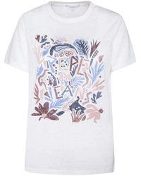 Pepe Jeans - Maglietta Lilla Bianco da donna bianco M - Lyst