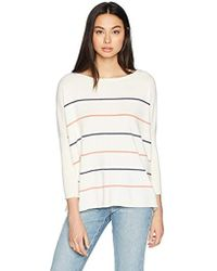Cupcakes And Cashmere - Cascada Boat Neck Pullover Striped Sweater - Lyst