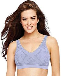 eb265148e3eef Lyst - Playtex Plus Size Comfort Lace Wire-free Bra in White - Save 11%