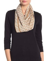 Michael Kors Collection Logo Knitted Long Scarf Muffler Camel - Multicolour