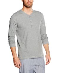 Marc O'polo Body & Beach Marc O ́Polo Shirt LS Henley Pigiama - Grigio