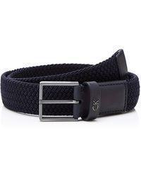 Calvin Klein Formal Elastic Belt 3.5cm Cinturón - Azul