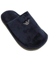 Emporio Armani Schuhe Hausschuhe Pantoffeln n Slippers Artikel XJPM01 XD213 underwear slippers - Blau