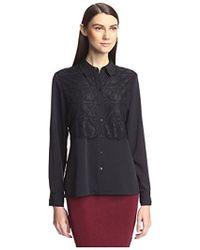 SOCIETY NEW YORK - Lace Panel Shirt - Lyst