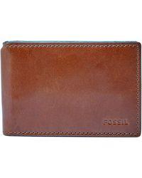 Fossil Hugh Money Clip Bifold Wallet - Brown