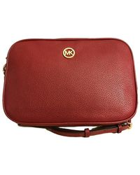 Michael Kors Fulton Large East West Crossbody in Cherry - Rosso