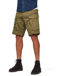 G-Star RAW Sage Rovic Zip Loose Cargo Shorts - Verde