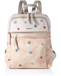 Desigual PU Backpack Medium - Marrone