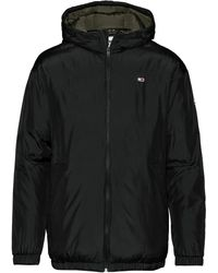 Tommy Hilfiger TJM Essential Hooded Jacket Chaqueta, - Negro