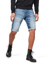 G-Star RAW 3301.5, Pantaloncini Uomo, Blu (Medium Aged 071), 31