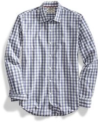 Goodthreads Slim-fit Long-sleeve Gingham Plaid Poplin - Blue