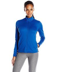 4fe848dd75c Lyst - Core 10 (xs-3x) Motion Tech Fleece Fitted Peplum Full-zip ...