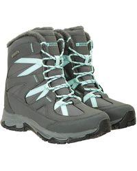Mountain Warehouse Winter Shoes Light Grey S Shoe Size 8 - Green