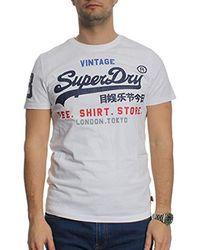 Superdry Shop, Camiseta para Hombre - Blanco