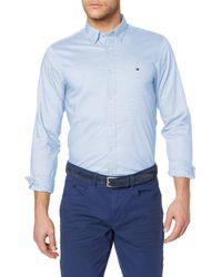 Tommy Hilfiger Slim Essential Dobby Shirt Camiseta - Azul