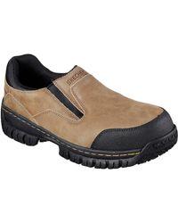 Skechers - New Hartan Steel Toe Slip On Work Shoe Camel 11 - Lyst