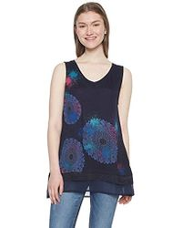 Desigual TS_Palermo T- T-Shirt Femme - Bleu