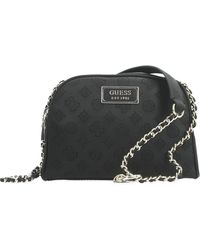 Guess Logo Love Crossbody Top Zip Umhängetasche - Schwarz