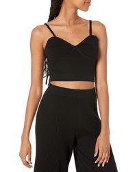 The Drop Catalina Sweater Bralette - Black