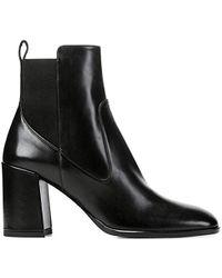 Via Spiga S Delaney Leather Square Toe Ankle Fashion Boots