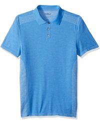 Skechers Golf Go Knit Seamless Polo,silver Lake Blue,xl