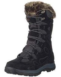 Jack Wolfskin Glacier Bay Texapore High W Waterproof-22°f Insulated Casual Snow Boot - Black