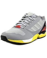 adidas Rubber Zx Flux Weave in Grey (Gray) for Men Lyst