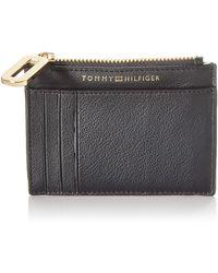 Tommy Hilfiger Soft Turnlock Cc Holder - Noir
