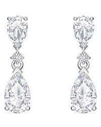 Swarovski Boucles d'oreilles gouttes Palace, cristal blanc, métal rhodié