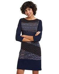 Desigual Dress Rina Vestito Donna - Blu