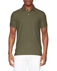 348397ad7 Hilfiger Slim Polo Homme - Vert