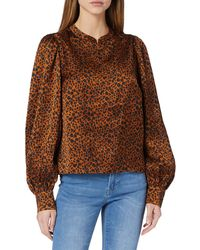 Scotch & Soda - Printed Top with Voluminous Sleeves Camicia da Donna - Lyst
