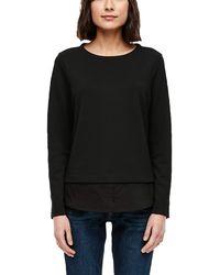 S.oliver - Sweatshirt im Layer-Look Black 34 - Lyst