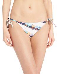 Splendid Tie Side Swimsuit Bikini Bottom - Blue