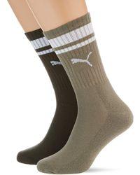 PUMA Crew Heritage Stripe Socks - Verde