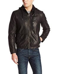 Cole Haan - Washed Lamb Leather Moto Jacket - Lyst