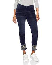 Desigual Pant_Panacea Pantalones para Mujer - Azul