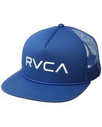 3503e70ca05b6 RVCA Finley Mens Trucker Hat in Blue for Men - Lyst