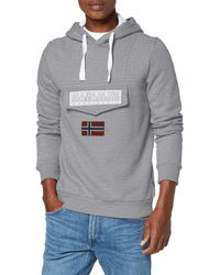 Napapijri Burgee 2 Sweatshirt à Capuche - Gris