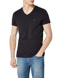 Tommy Hilfiger Core Stretch Slim Vneck tee Camiseta - Negro